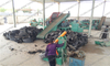 Economical fully-automatic scrapped waste tires recycling to rubber granule production line