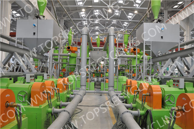 Fully Automatic Waste Scrapped Tire Shredding to Crumb Rubber Powder Equipment