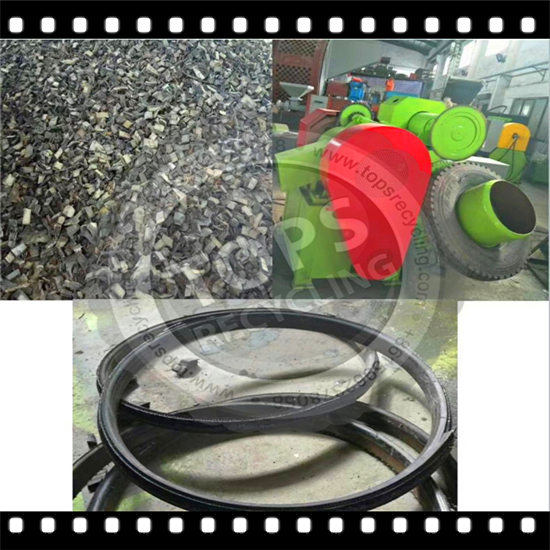 New Machine for Waste Tire Recycling Plant